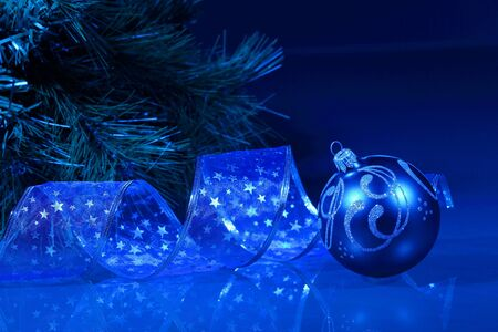 Beautiful christmas decorations for a christmas tree photo