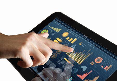 La technologie informatique moderne dans l'illustration des affaires avec appareil sans fil
