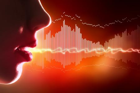 Equalizer sound wave background theme Colour illustration Banco de Imagens