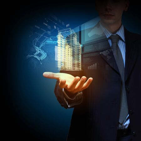 building business: Engineering automation building designing  Construction industry technology