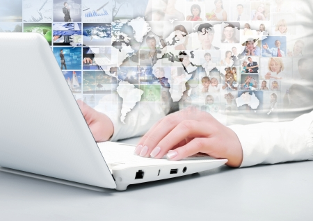 Symbol of social network with people images Stock Photo - 16996179