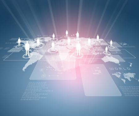 개념 시리즈에서 글로벌 비즈니스의 인터넷 기술의 개념 스톡 콘텐츠