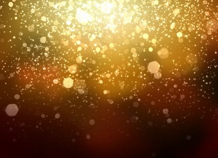 Gold colour bokeh abstract light background  Illustration