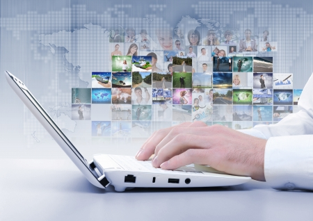 Symbol of social network with people images Stock Photo - 17022518
