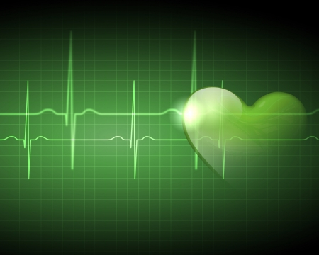 Image of heart beat picture on a colour background Stock Photo - 17022580