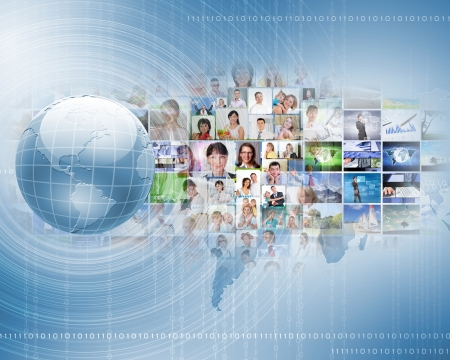 Symbol of social network with people images Stock Photo - 17022163