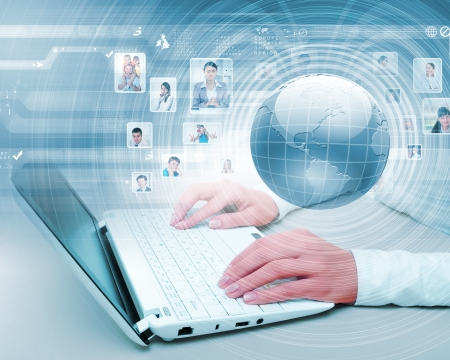 Symbol of social network with people images Stock Photo - 17429521