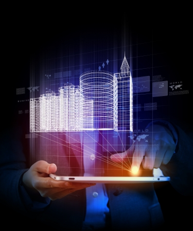 industrial automation: Engineering automation building designing  Construction industry technology
