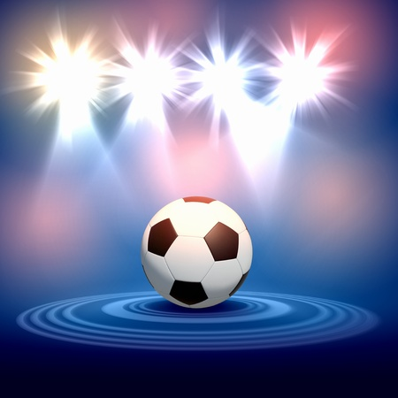Black and white football or soccer ball, colour illustration Stock Illustration - 17867972