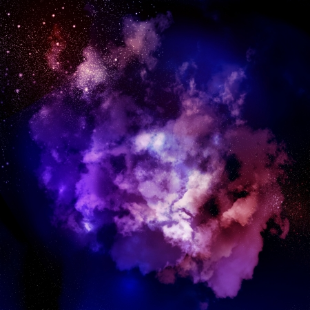 Cosmic clouds of mist on bright colorful backgrounds Stock Photo - 18021092