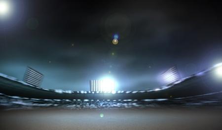 stadium lights: Image of defocused stadium lights at night Stock Photo