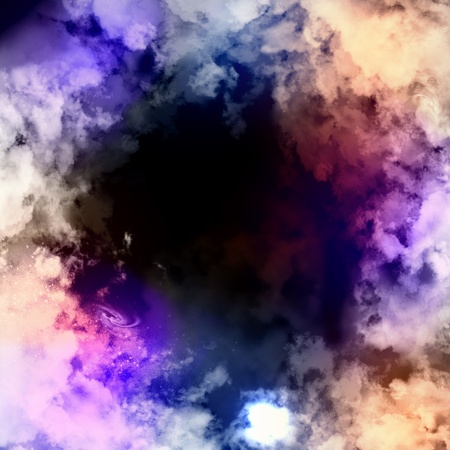 Cosmic clouds of mist on bright colorful backgrounds Stock Photo - 18051878