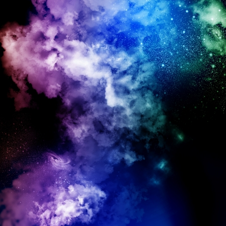 Cosmic clouds of mist on bright colorful backgrounds Stock Photo - 18051919