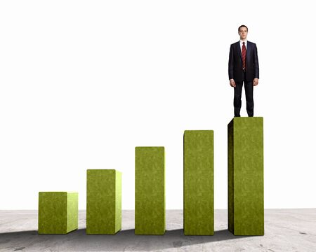 Business person on a graph, representing success and growth Stock Photo - 18241675