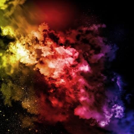 Cosmic clouds of mist on bright colorful backgrounds Stock Photo - 18395094