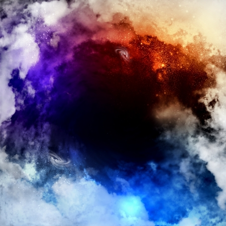 Cosmic clouds of mist on bright colorful backgrounds Stock Photo - 18472104