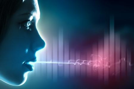 Equalizer sound wave background theme  Colour illustration Stock Illustration - 18560388
