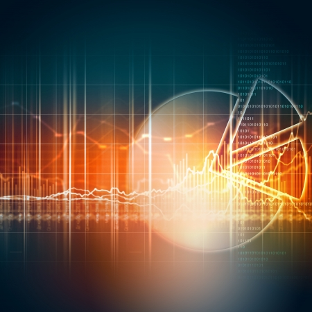 Abstract high tech background with graphs and diagrams photo