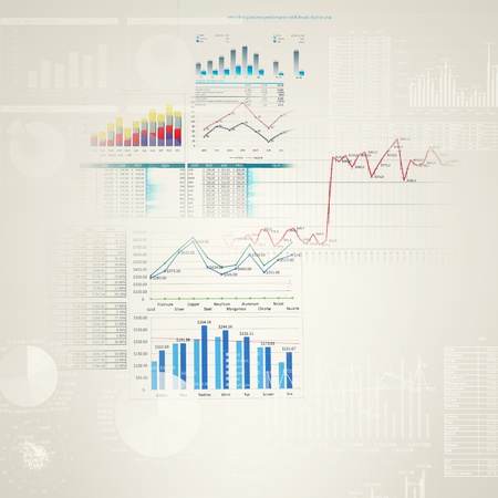 Abstract high tech background with graphs and diagrams Stock Photo - 18747017