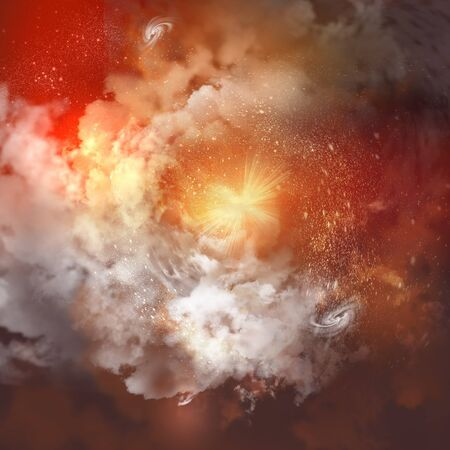 Cosmic clouds of mist on bright colorful backgrounds Stock Photo - 18892291