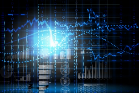 circuit sale: Abstract high tech background with graphs and diagrams Stock Photo