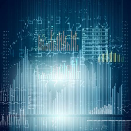 Abstract high tech tła z wykresów i diagramów