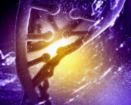 stem: Mol�cula de ADN que se encuentra en frente de un fondo de color abstracto collage