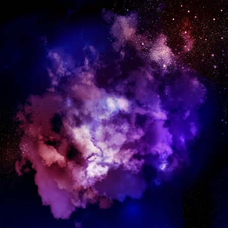 Cosmic clouds of mist on bright colorful backgrounds photo