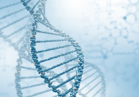Digital illustration of dna structure on colour background Stock Illustration - 19305403