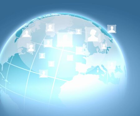 Internet technology concept of global business from concepts series Stock Photo - 19390695