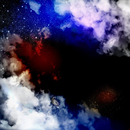 Cosmic clouds of mist on bright colorful backgrounds Stock Photo - 19393687