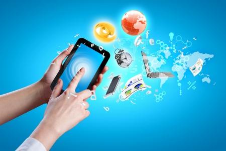 mobile communication: Closeup image