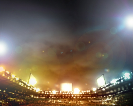 blur: Image of stadium in lights and flashes