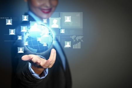 Modern wireless technology and social media illustration photo