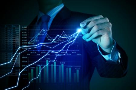 incremento: Imagen de detalle de empresario, elaboración de gráficos 3D