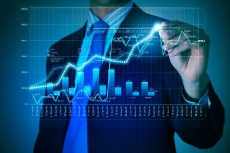 economia: Imagen de detalle de empresario, elaboraci�n de gr�ficos 3D