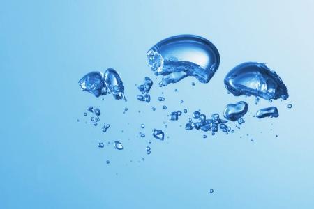 Clean blue water splash on white background illustration illustration