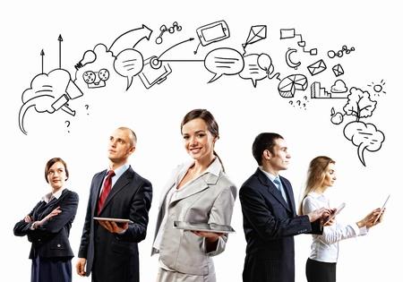 Afbeelding van jonge ondernemers team Collage achtergrond Stockfoto - 20207411