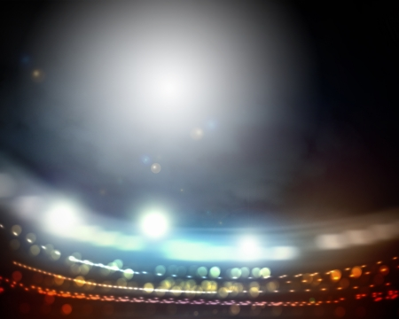 night spot: Image of stadium in lights and flashes