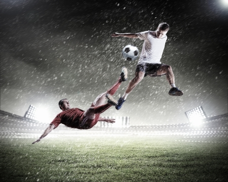 Image of two football players at stadium Stock Photo - 20327683