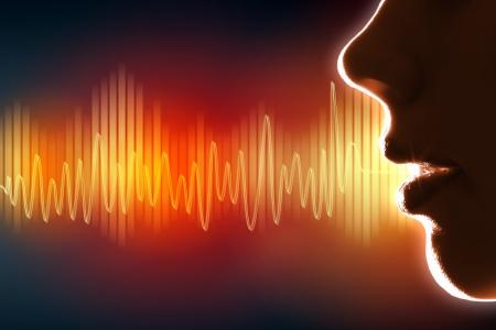 wave sound: Equalizer sound wave background theme  Colour illustration