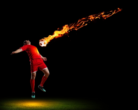 Image of football player in red shirt photo