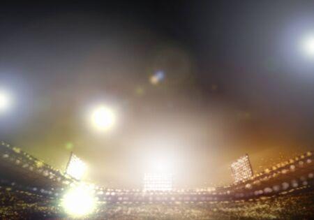 stadium lights: Image of stadium in lights and flashes