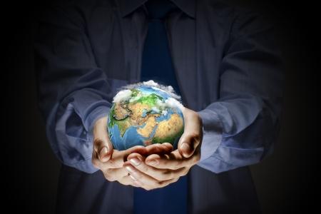 let on: Vamos s salvar nuestro concepto de la ecolog�a planeta tierra Foto de archivo