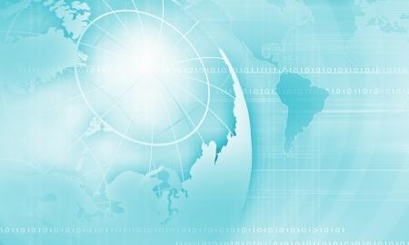Blue digital image of globe  Background image photo