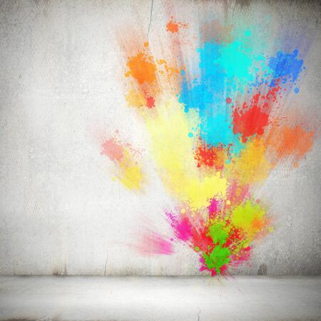 color splash: Background image with colorful splashes and drops