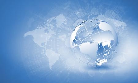 Blue digital image of globe  Background image Stock Photo - 21291532