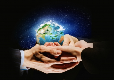 let s: Let s save our planet earth  Ecology concept