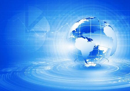 Blue digital image of globe  Background image Stock Photo - 21327526