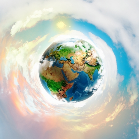 save the sea: Image of earth planet  Stock Photo
